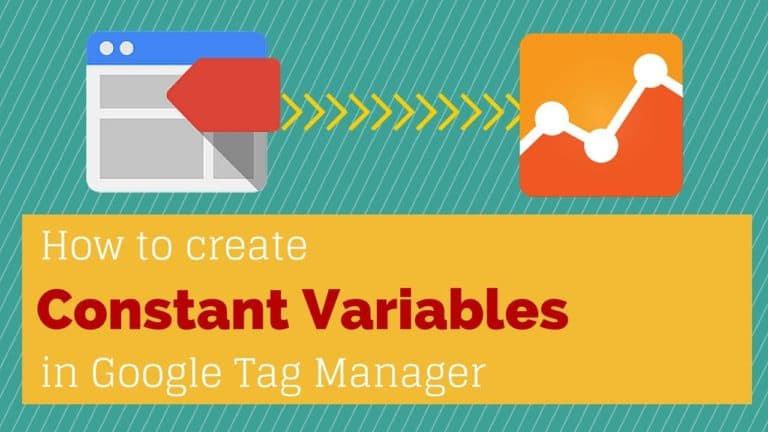 Constant Variables in Google Tag Manager (AnalyticsID)