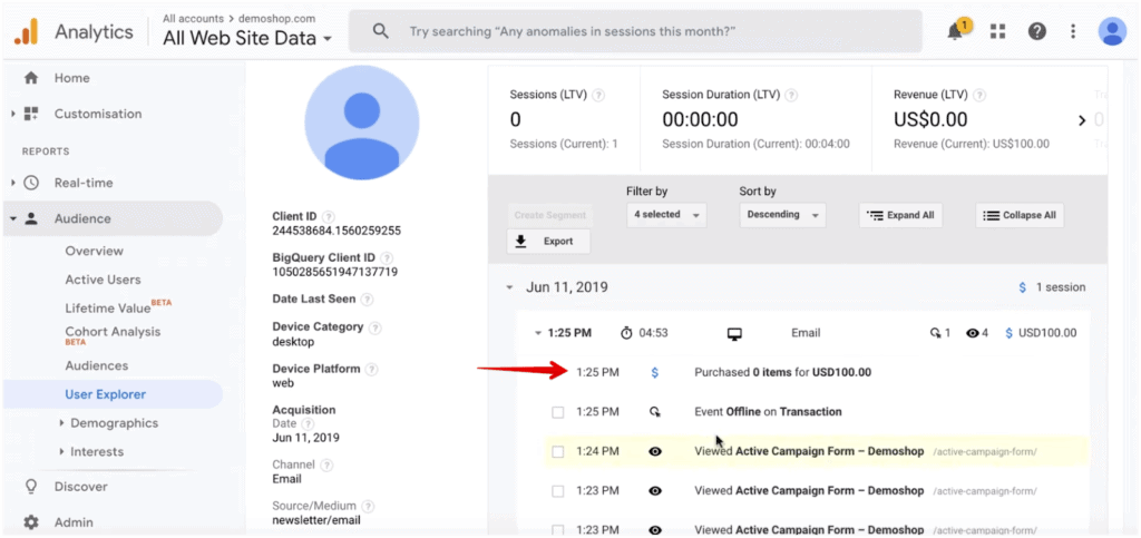 regular reports offline conversion reporting