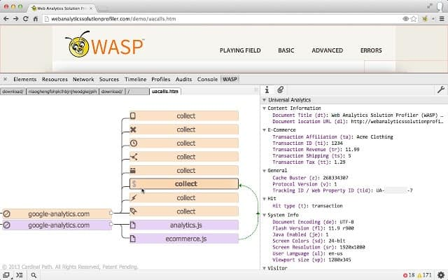 wasp-inspector-analytics-chrome-extension
