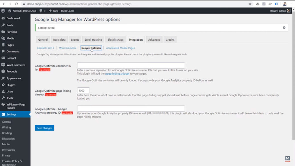 google-tag-manager-for-wordpress-plugin-options-integration-google-optimize