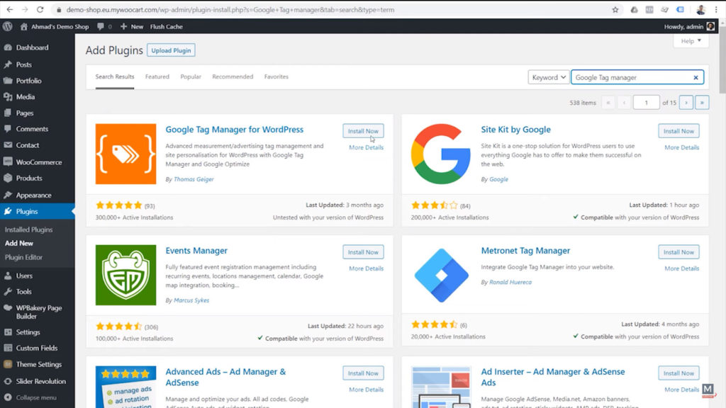 search-for-google-tag-manager-for-wordpress-by-thomas-geiger