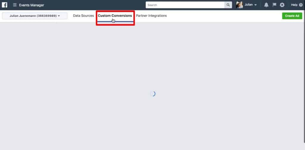 Create Custom Conversion in Facebook for Facebook Pixel Conversion Tracking