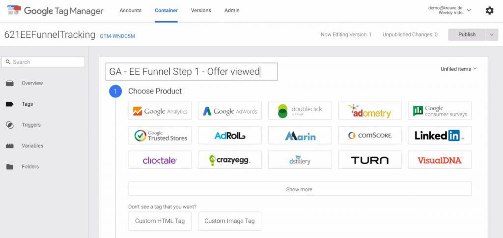 Naming the New Tag in Google Tag Manager