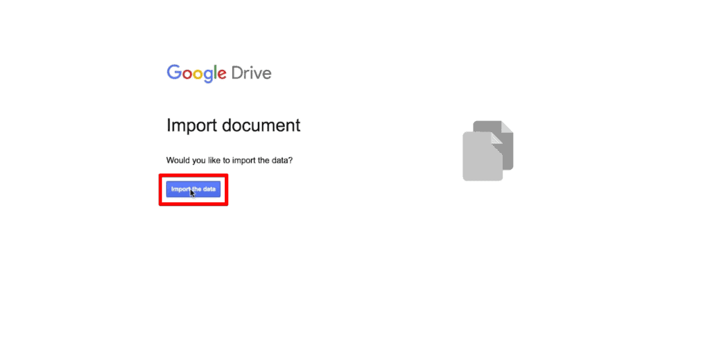Import the data to Google Sheets for data analysis