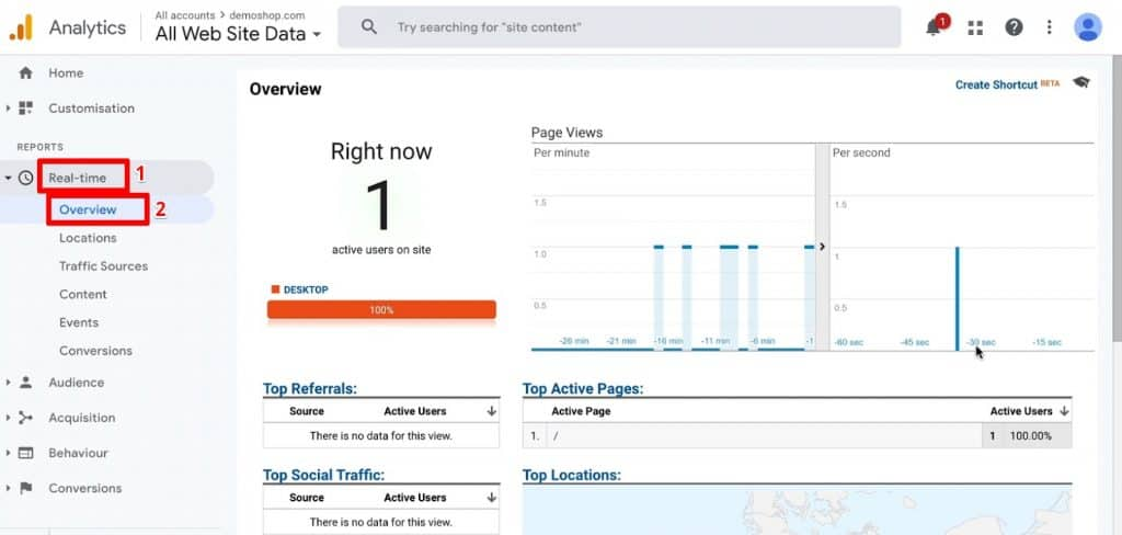 Overview of Real-time reporting in Google Analytics