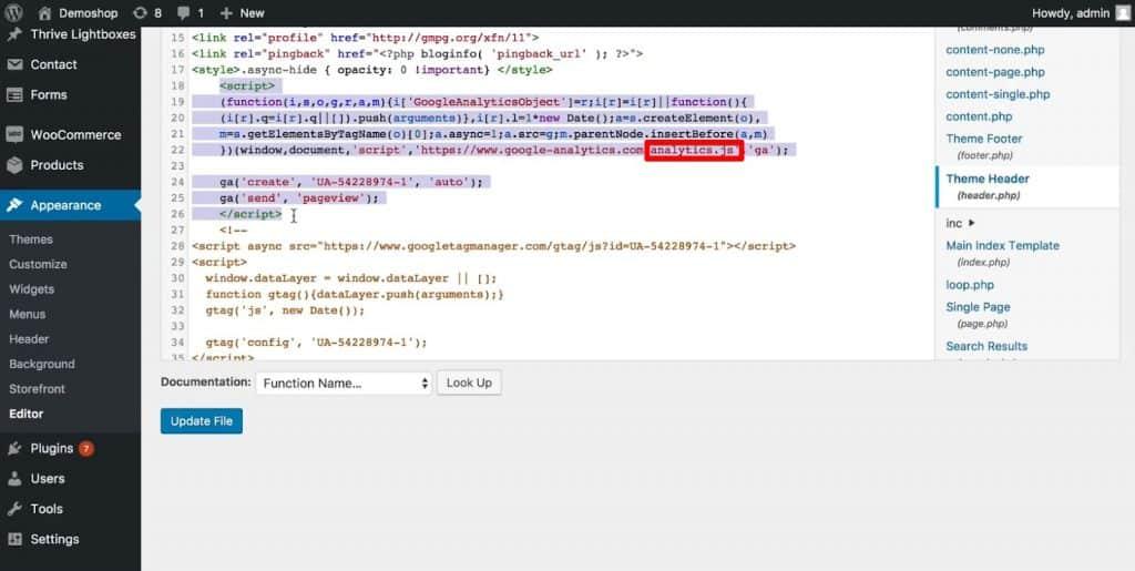 analytics.js version of the Google Analytics code