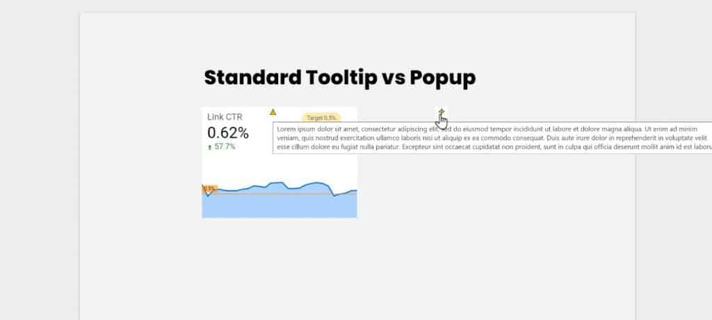 Browser based standard tooltip that doesn't cover the components of the chart
