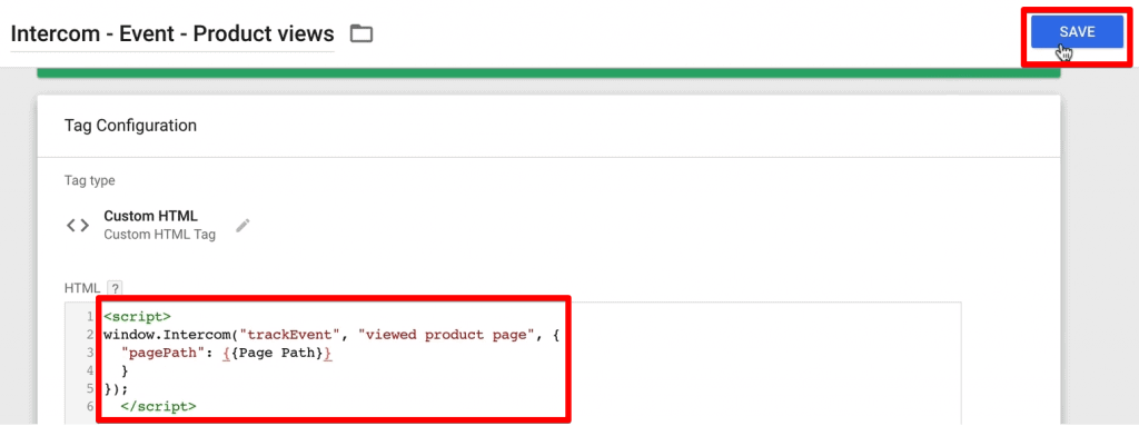Adding custom events tracking code in Custom HTML Tag in Google Tag Manager