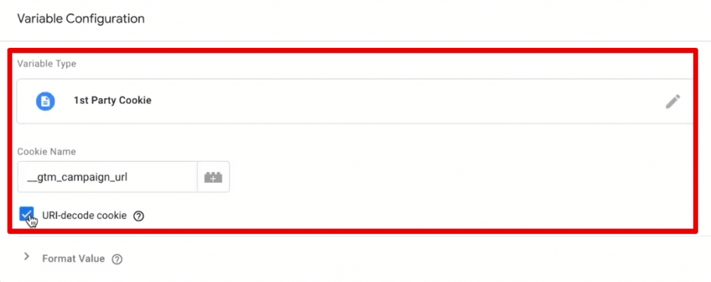 Configuring the cookie variable to capture UTM parameters in Google Tag Manager
