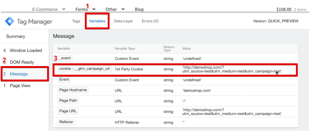 Source URL decoded and stored in a cookie variable in Google Tag Manager