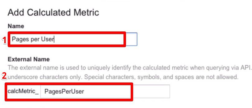 Adding a descriptive and informative metric name for the new Custom Calculated Metrics
