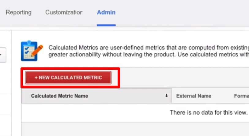 Creating your first Metric  by adding new Calculated Metrics