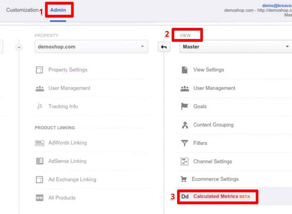 Creating your first Metric using the  Calculated Metrics BETA