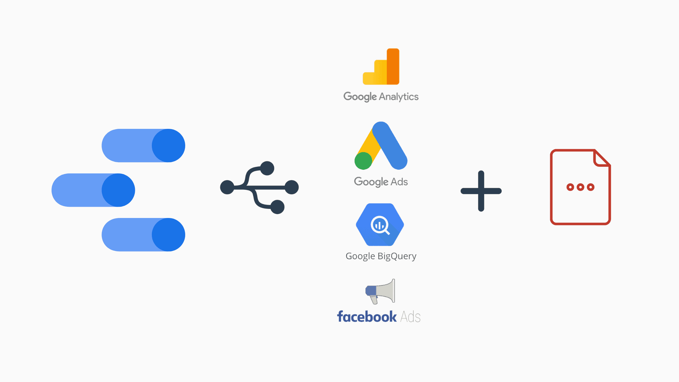 Google Data Studio can connect multiple data sources like Google Analytics, Google Ads, etc.