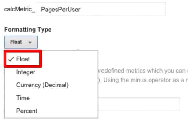 Select an appropriate Formatting Type. Float is a good generic type that accommodates different values