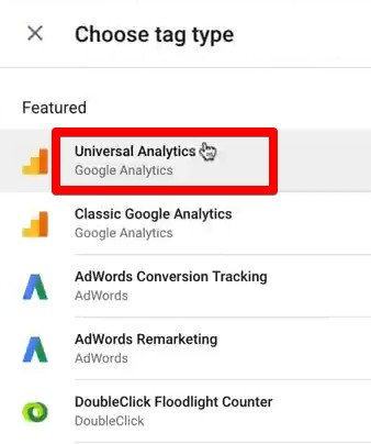 Creating a Universal Analytics event Tag for Google Tag Manager