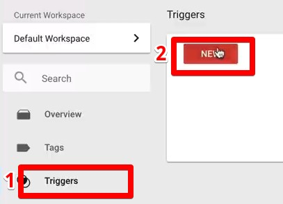 Creating a new trigger in Google Tag Manager