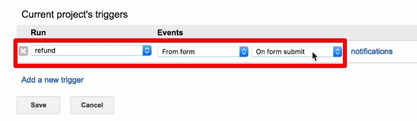 Setting up a trigger for sending refund data to Google Analytics