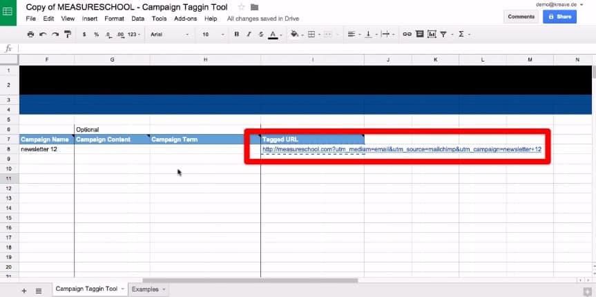 Generate a ready-made Tagged URL using MeasureSchool UTM Tool