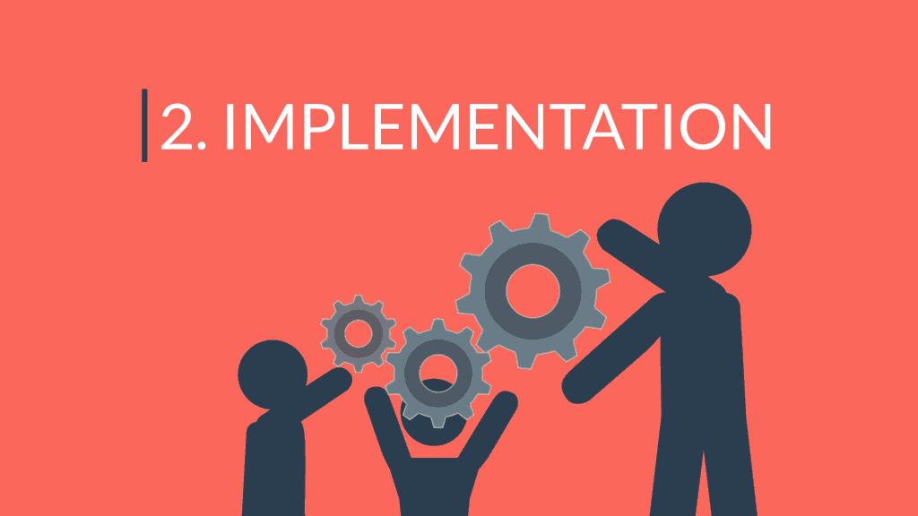 """Header image labeled """"2. Implementation"""""""