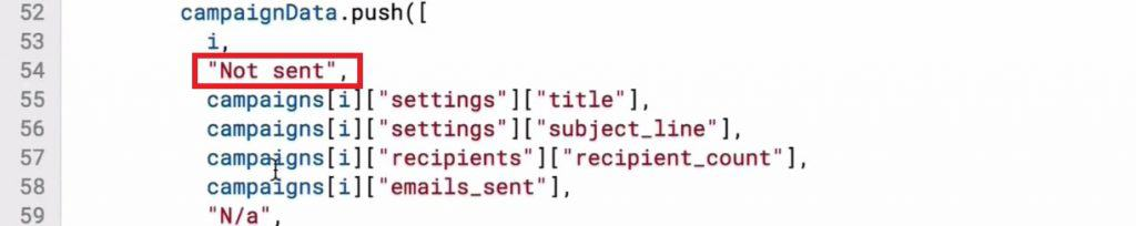 """Adding """"Not sent"""" notation in the code to capture campaigns in draft phase"""
