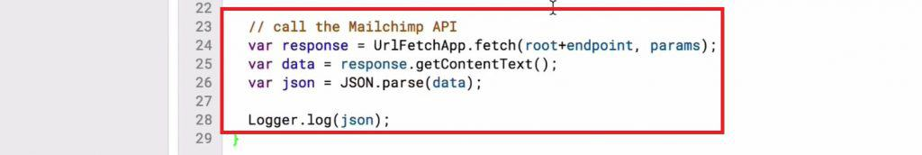 Calling the MailChimp API in Script editor to display the received data