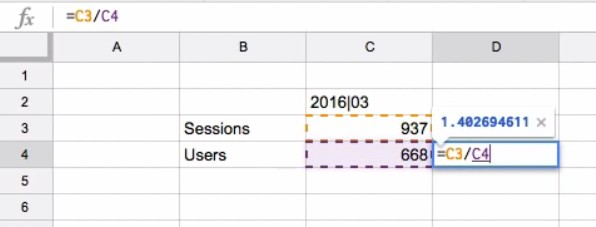 Google Sheets' calculations to customize the dashboard report