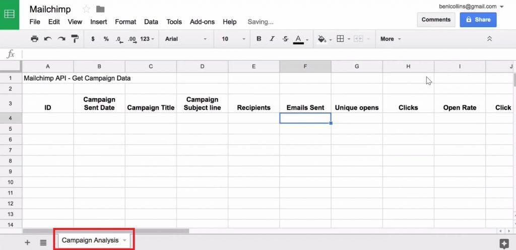 Renaming the Google Sheet