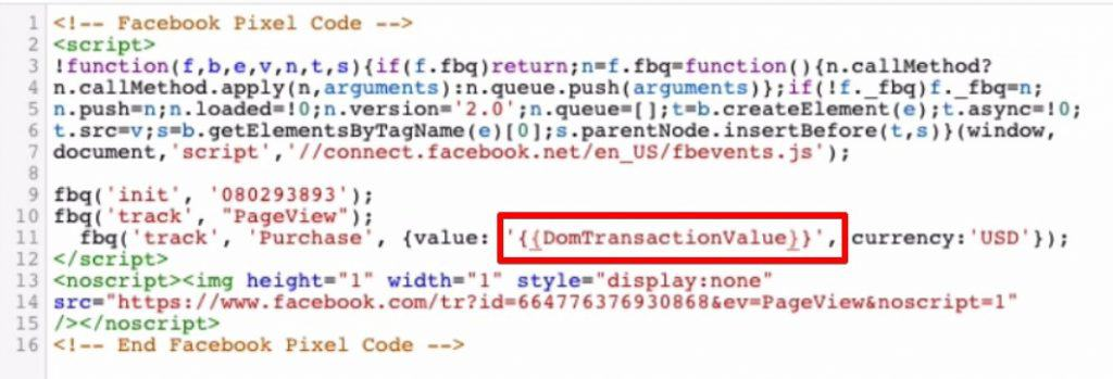 Configuring the Facebook conversion tracking Tag by adding a Custom JavaScript variable on Google Tag Manager