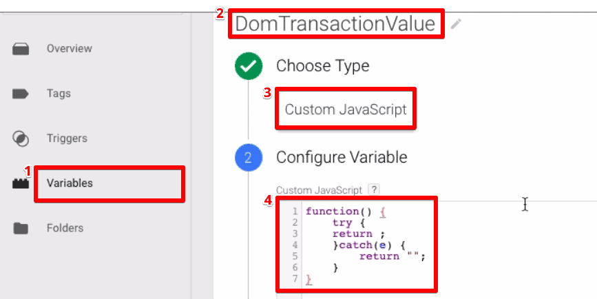 Configuring the JavaScript  variable by adding a code