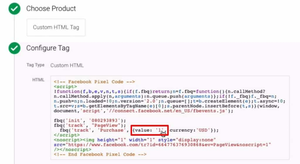 Identifying the correct place in the HTML code to add our Custom JavaScript variable